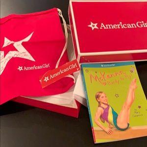 NWT American Girl Drawstring Bag & Book